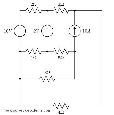 Nodal analysis (dc) example circuitlab.