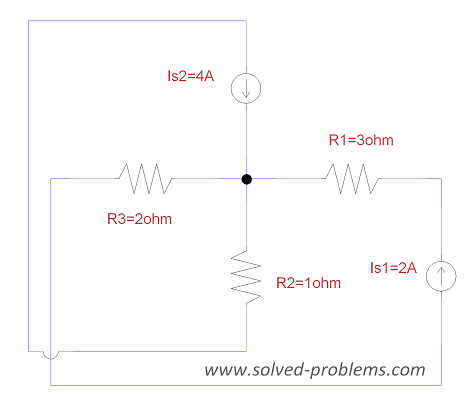 Problem 1-8 - Nodal Analysis and Power Calculation