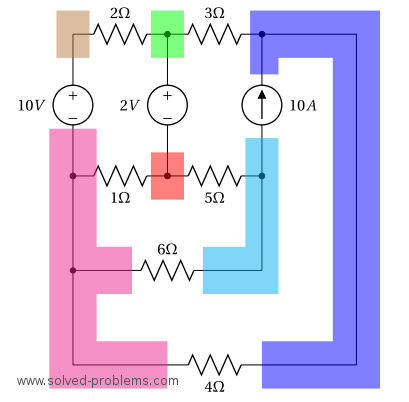 Nodal Analysis 6 Node Circuit - all nodes